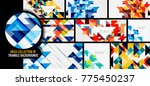 set of triangles repetition...   Shutterstock .eps vector #775450237