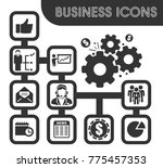 business icons set and symbols... | Shutterstock .eps vector #775457353