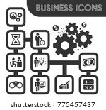 business icons set and symbols... | Shutterstock .eps vector #775457437