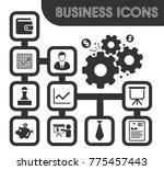 business icons set and symbols... | Shutterstock .eps vector #775457443