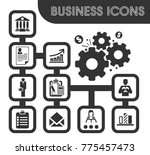 business icons set and symbols... | Shutterstock .eps vector #775457473