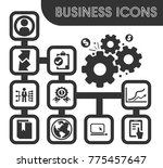 business outline icons set and... | Shutterstock .eps vector #775457647
