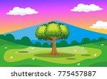 nature landscape background | Shutterstock .eps vector #775457887