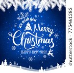 merry christmas and new year... | Shutterstock .eps vector #775461283