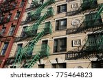 colorful traditional new york... | Shutterstock . vector #775464823