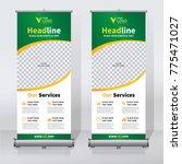 roll up sale banner design... | Shutterstock .eps vector #775471027
