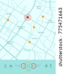 vector city map with route and...