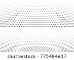 abstract halftone wave dotted... | Shutterstock .eps vector #775484617