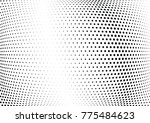 abstract halftone wave dotted... | Shutterstock .eps vector #775484623