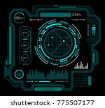 hud interface. art vector with... | Shutterstock .eps vector #775507177