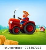 tractor set icons | Shutterstock .eps vector #775507333
