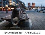 Bench Sunset Aker Brygge Oslo - Fine Art prints
