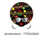 portrait african women   dark... | Shutterstock .eps vector #775522003