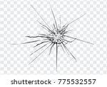 Broken Glass  Cracks  Bullet...