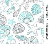 seamless pattern with hand...   Shutterstock .eps vector #775535953