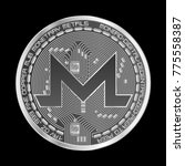 crypto currency silver coin... | Shutterstock .eps vector #775558387