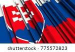 fragment flag of slovakia. 3d... | Shutterstock . vector #775572823
