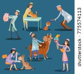 professional veterinarians...   Shutterstock .eps vector #775574113
