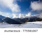 view of alps at mayrhofen ski... | Shutterstock . vector #775581007