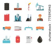 oil and gas industry isolated... | Shutterstock . vector #775593943