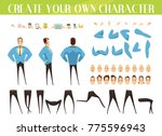set for creation of cartoon... | Shutterstock . vector #775596943