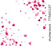 heart confetti beautifully... | Shutterstock .eps vector #775601137