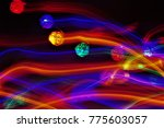 abstract pattern of blurry... | Shutterstock . vector #775603057