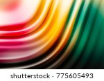 colorful ripple background | Shutterstock . vector #775605493