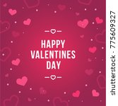 happy valentine's day postcard... | Shutterstock .eps vector #775609327
