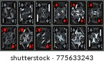 playing cards  classical style  ... | Shutterstock .eps vector #775633243