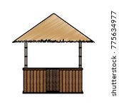 isolated hut design | Shutterstock .eps vector #775634977