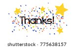 thanks  beautiful greeting card ... | Shutterstock .eps vector #775638157