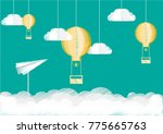 illustration of a balloon that... | Shutterstock .eps vector #775665763