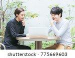 foreign men and women ...   Shutterstock . vector #775669603