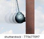 hit a brick wall struggle... | Shutterstock . vector #775677097