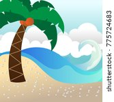 beach shore illustration... | Shutterstock .eps vector #775724683