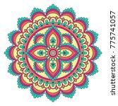 ethnic ornamental mandala.... | Shutterstock .eps vector #775741057