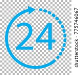 24 hours icon on transparent... | Shutterstock .eps vector #775746067