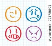 modern outline style emoji... | Shutterstock .eps vector #775758973