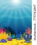underwater scene with tropical...   Shutterstock . vector #775761847