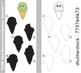 funny ice cream corn to find... | Shutterstock .eps vector #775764673