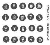 doodle beverages set   Shutterstock .eps vector #775769623