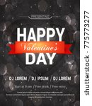 valentines day flyer  14... | Shutterstock .eps vector #775773277