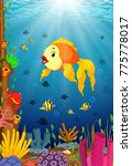 cute fish cartoon in the sea | Shutterstock .eps vector #775778017