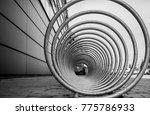 a bicycle stand and a...   Shutterstock . vector #775786933