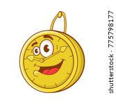 happy cartoon wall clock.... | Shutterstock .eps vector #775798177