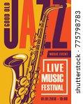 vector poster for a jazz... | Shutterstock .eps vector #775798783