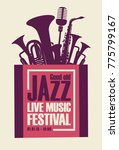 vector poster for a jazz... | Shutterstock .eps vector #775799167