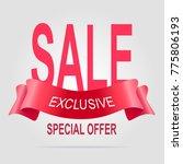 exclusive sale banner original... | Shutterstock .eps vector #775806193