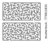 abstract mazes   labyrinths...   Shutterstock .eps vector #775811833